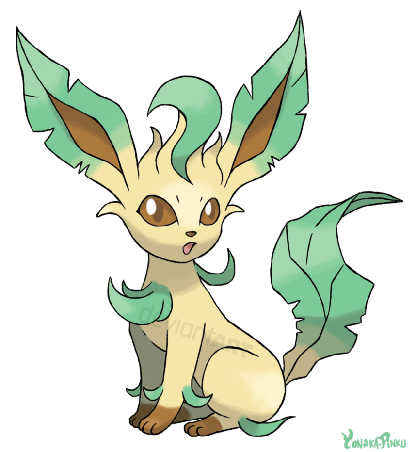 Leafeon Redraw Png image #24029
