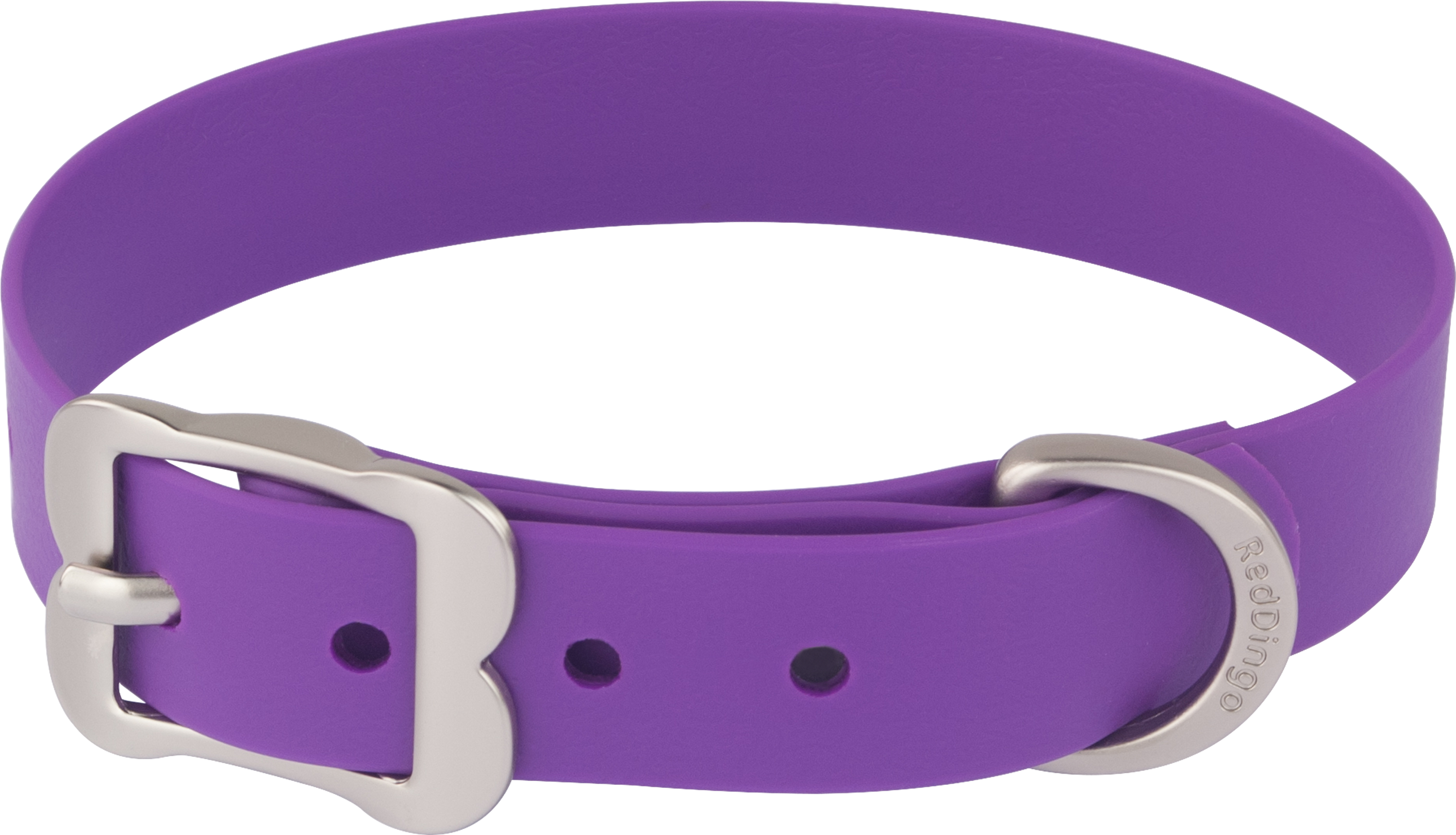 Leather And Metal Dog Collar Purple Design Images image #48125