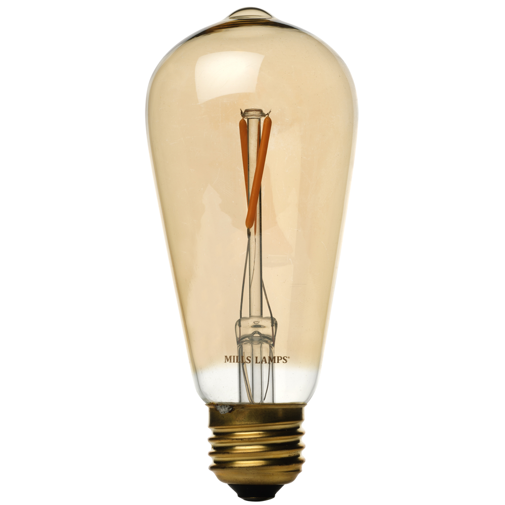 led edison bulb vintage transparent