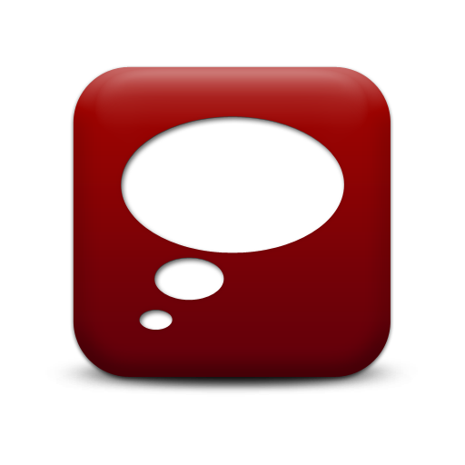 Left Thought Bubble Red Png image #6622