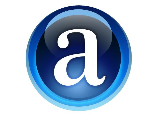 Letter A Vector Icon image #8861