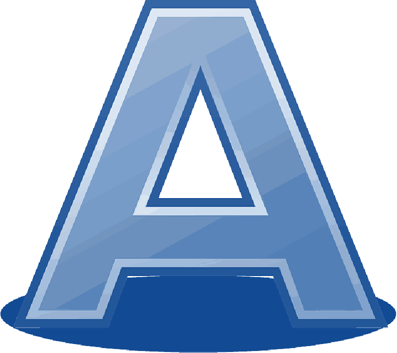 Letter A Save Icon Format image #8851