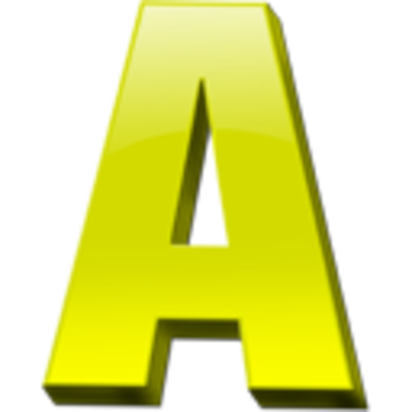Vector Letter A Free image #8839