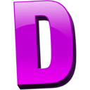 Letter D Vector Drawing