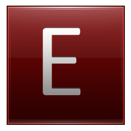 Letter E Save Icon Format image #21680