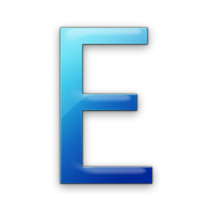Letter E Simple Png image #21663