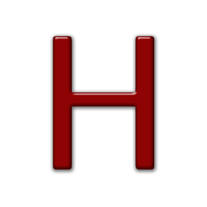 Letter H Icons No Attribution image #21745