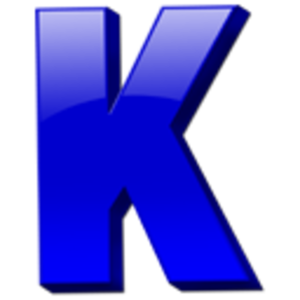 Vector Icon Letter K image #21796