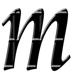 Letter M Icon Png image #21877