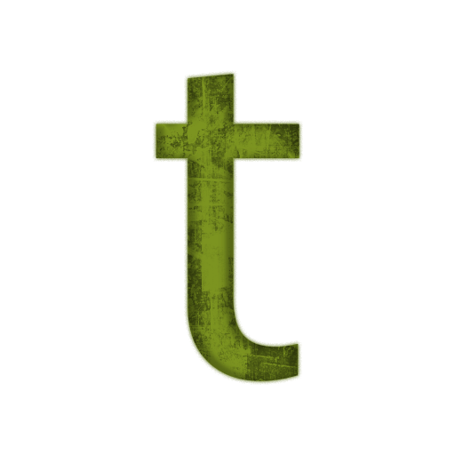 Vector Free Letter T