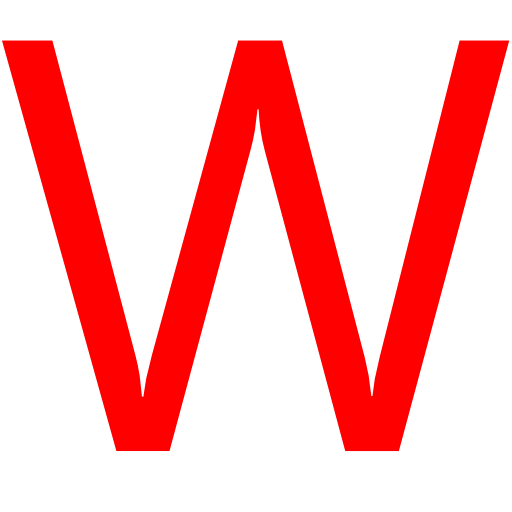Letter W Library Icon image #8984