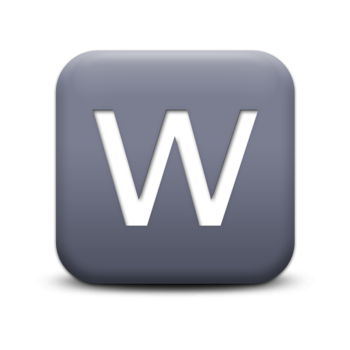 Letter W Download Ico image #8966