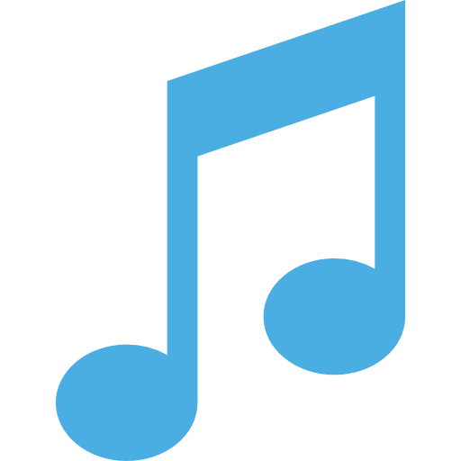 Light Blue Music Note Picture image #48339