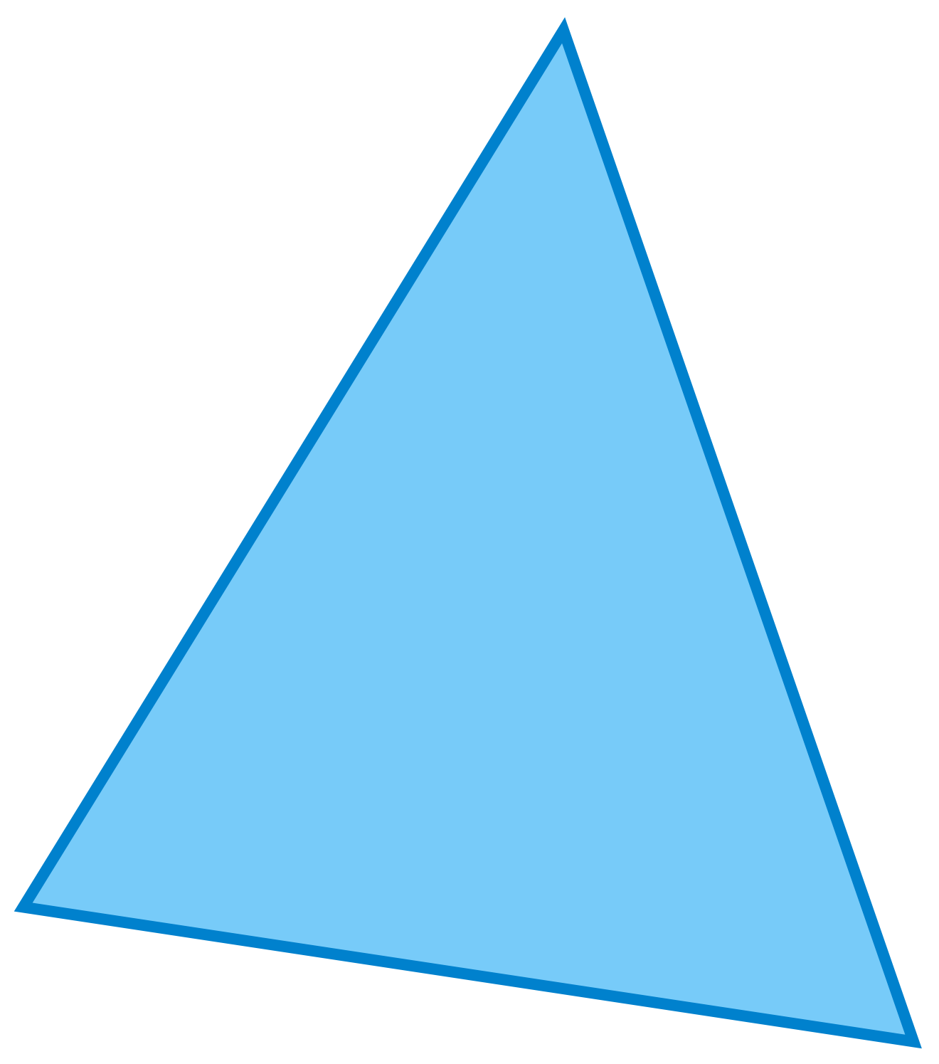 Light blue triangle image #42399 - Free Icons and PNG Backgrounds
