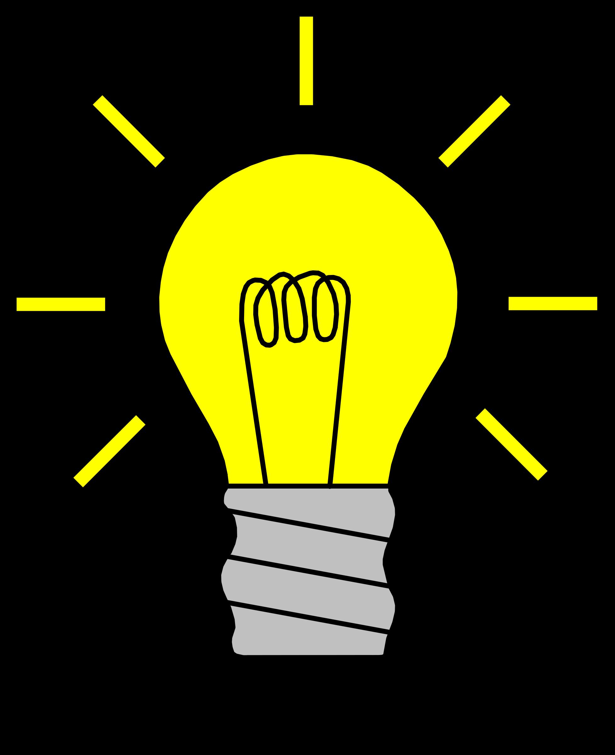 Light Bulb Clip Art BULB02 image #836