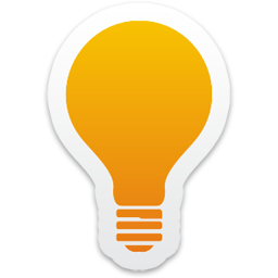 Light Bulb Icon — Colorful Stickers Part 2 Set: yellow