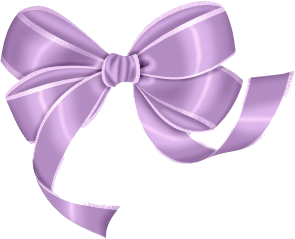 Light Purple Bow PNG Transparent image #44516