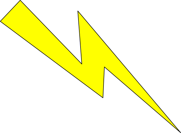 Lightning Yellow With Black Outline Clip Art image #44056