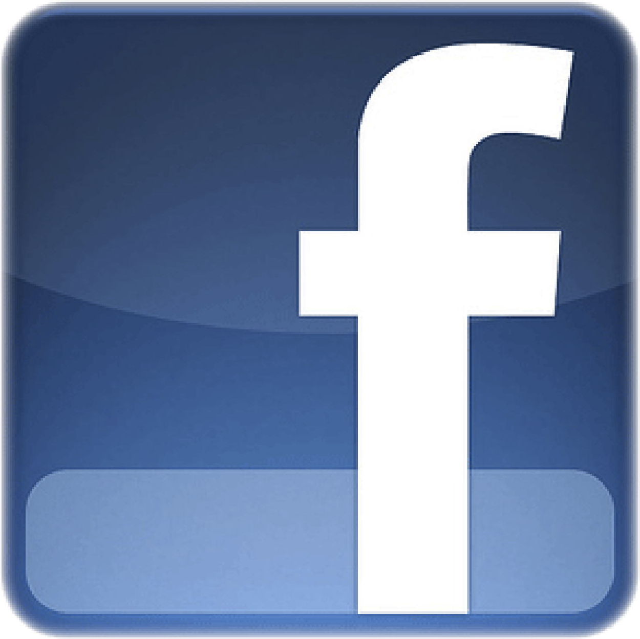 Facebook Logo Glossy Like or share Png