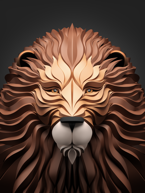 Lion 3d Animal download 3d animal PNG images