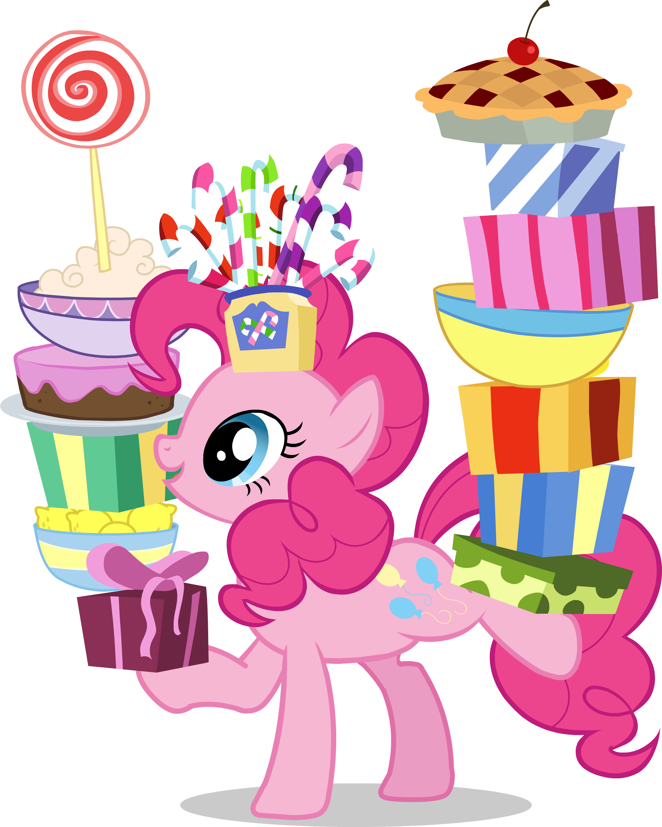 Little Pony With Cakes And Gifts Clipart image #47144