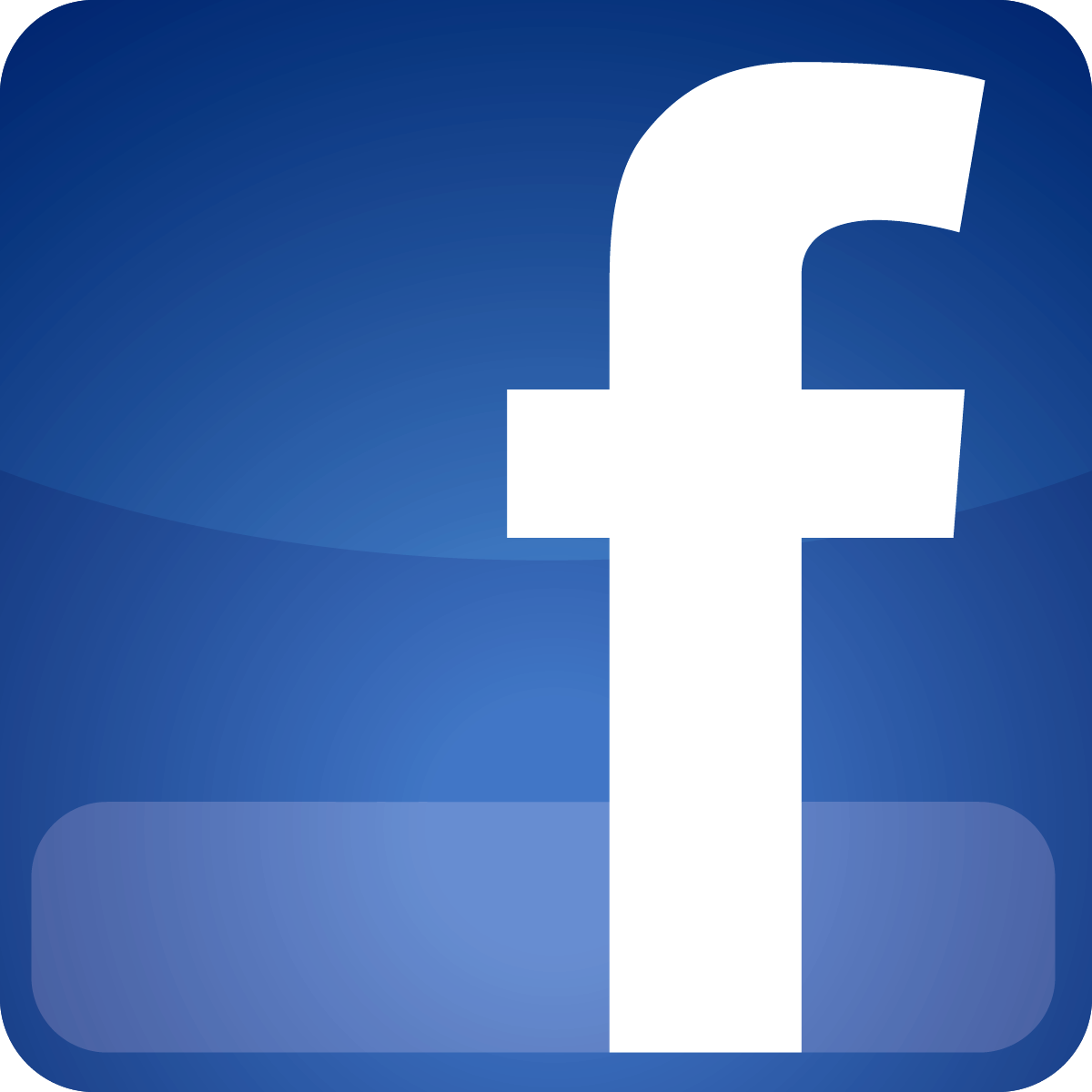 Glassy Facebook Logo Png Blue  image #8