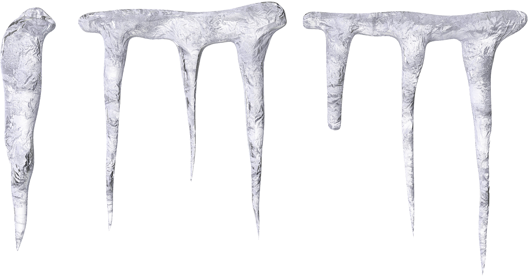 Long Short Icicle Transparent Photo image #48587