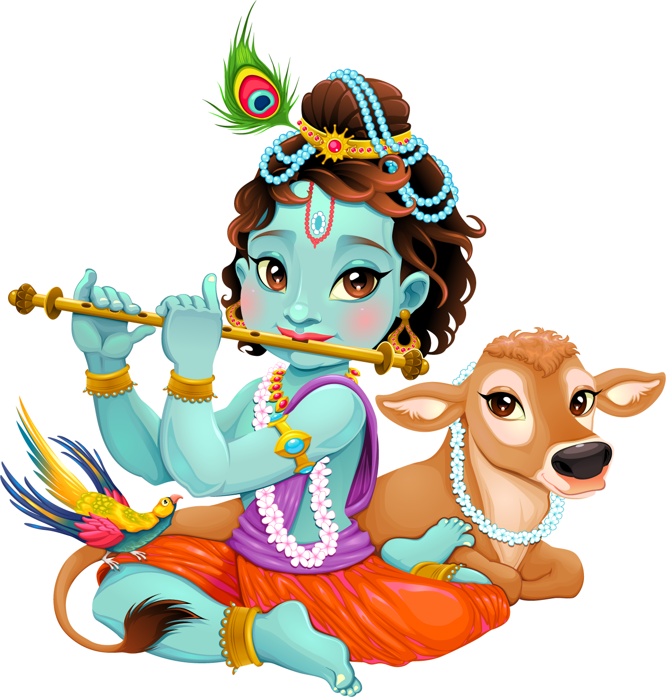lord krishna transparent free image