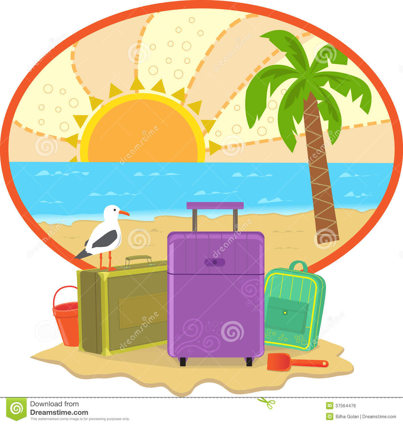 lounger, sea, summer, umbrella, vacation icon