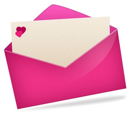 Love Email Pink Icon