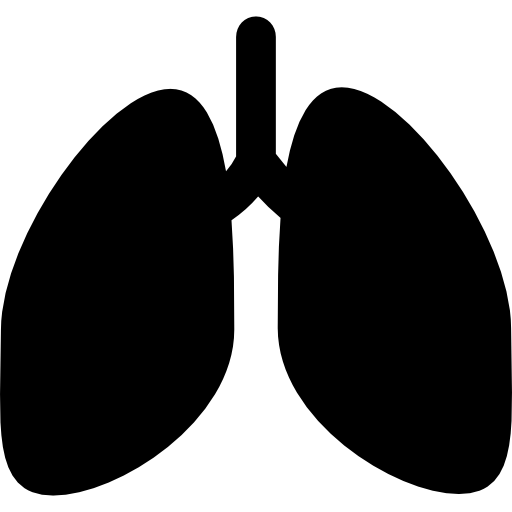 Lungs silhouette