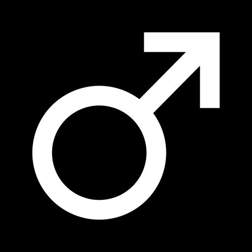 male symbols icon black