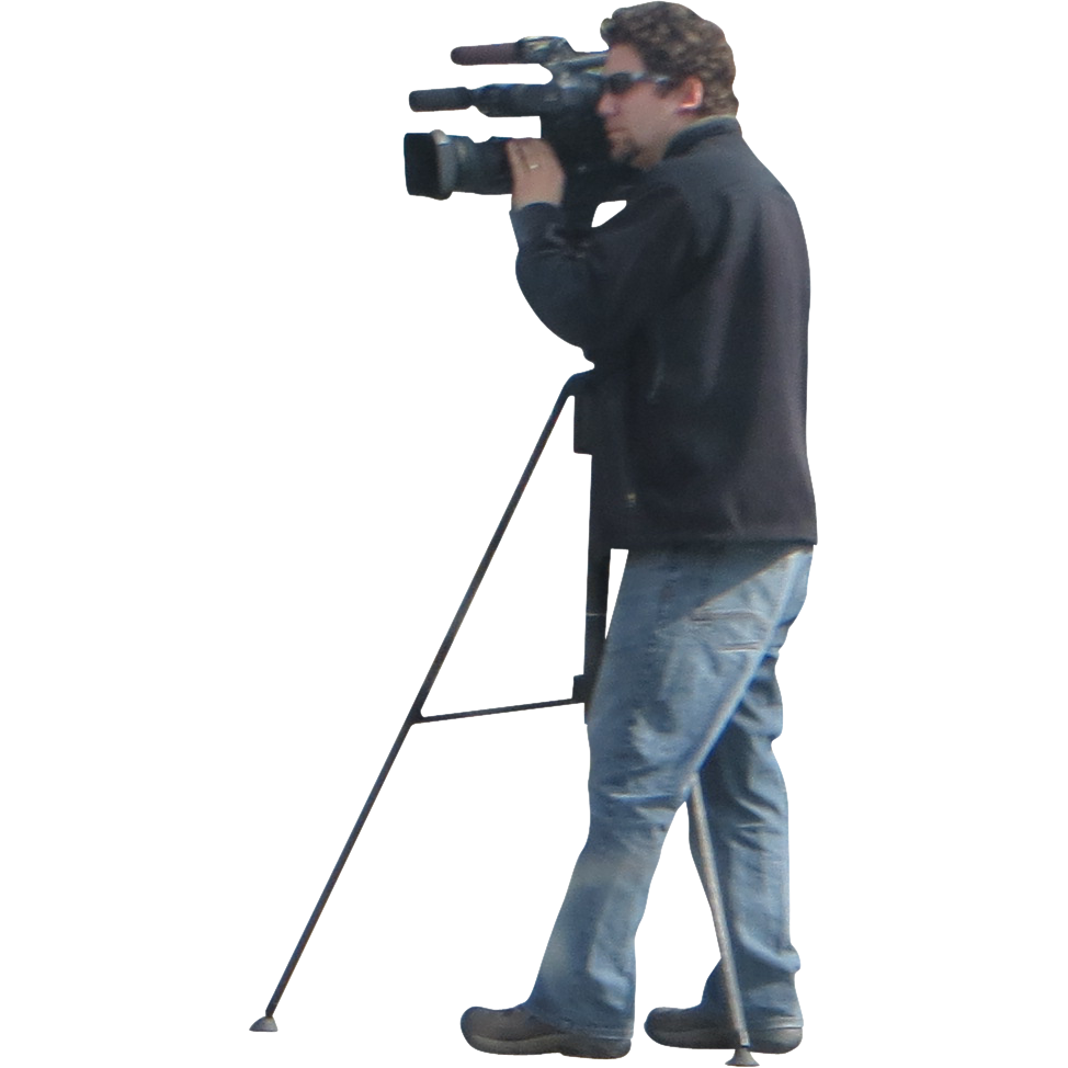 Man And Video Camera Png image #35752