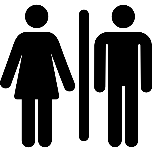 Man And Women Restroom Icon image #42377
