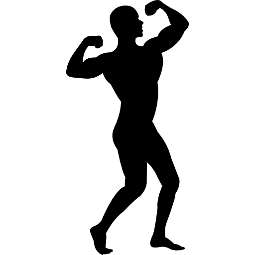 Man Flexing His Muscles Silhouette image #5232