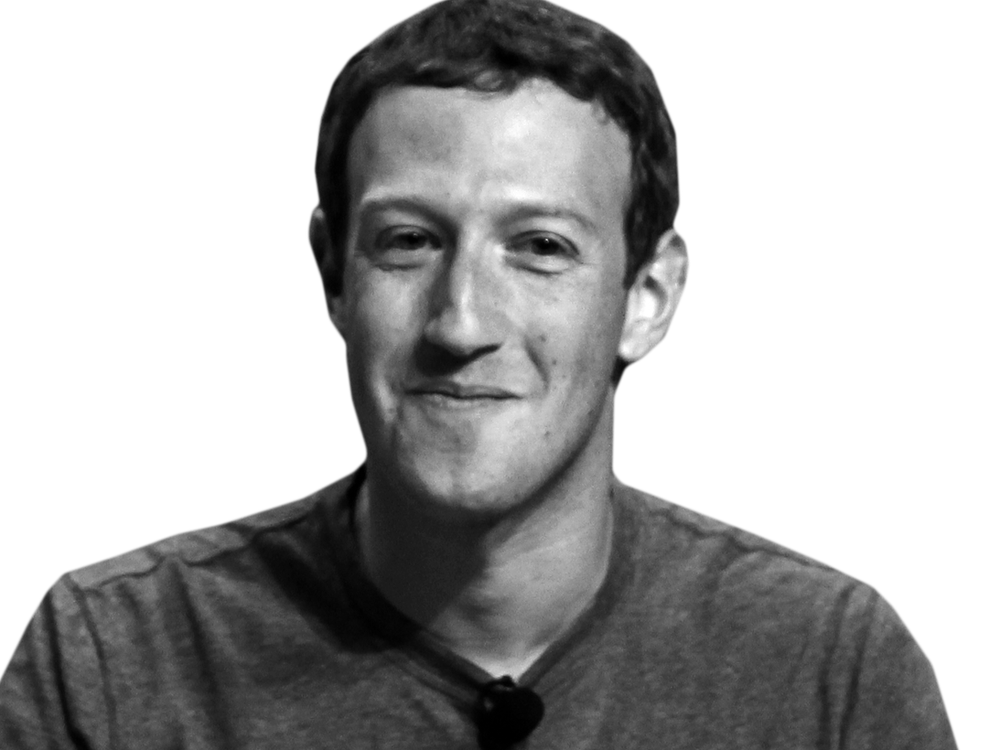 mark zuckerberg png black white