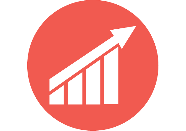 Marketing Icon Png Icon of an increasing graph