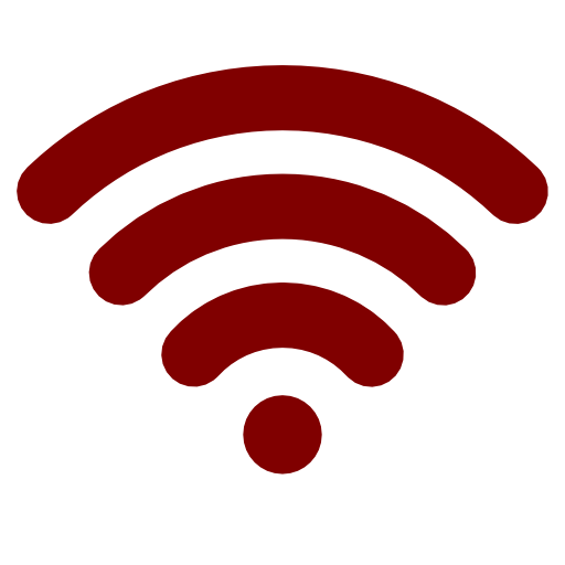 maroon wifi icon
