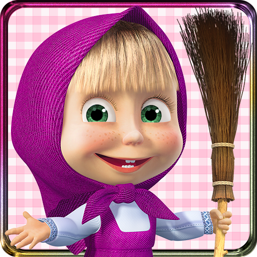 Masha With Broom Transparent PNG image #47261