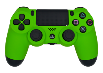 Matte Lime Green PS4 Controller Png image #42124