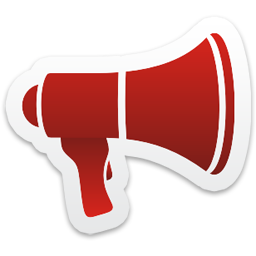 Megaphone Icon from Colorful Stickers Part 5 Set  256x256 px
