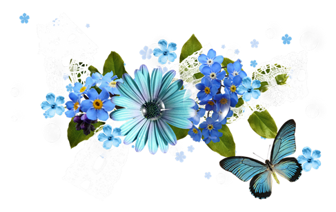 Melody of spring flowers clipart png