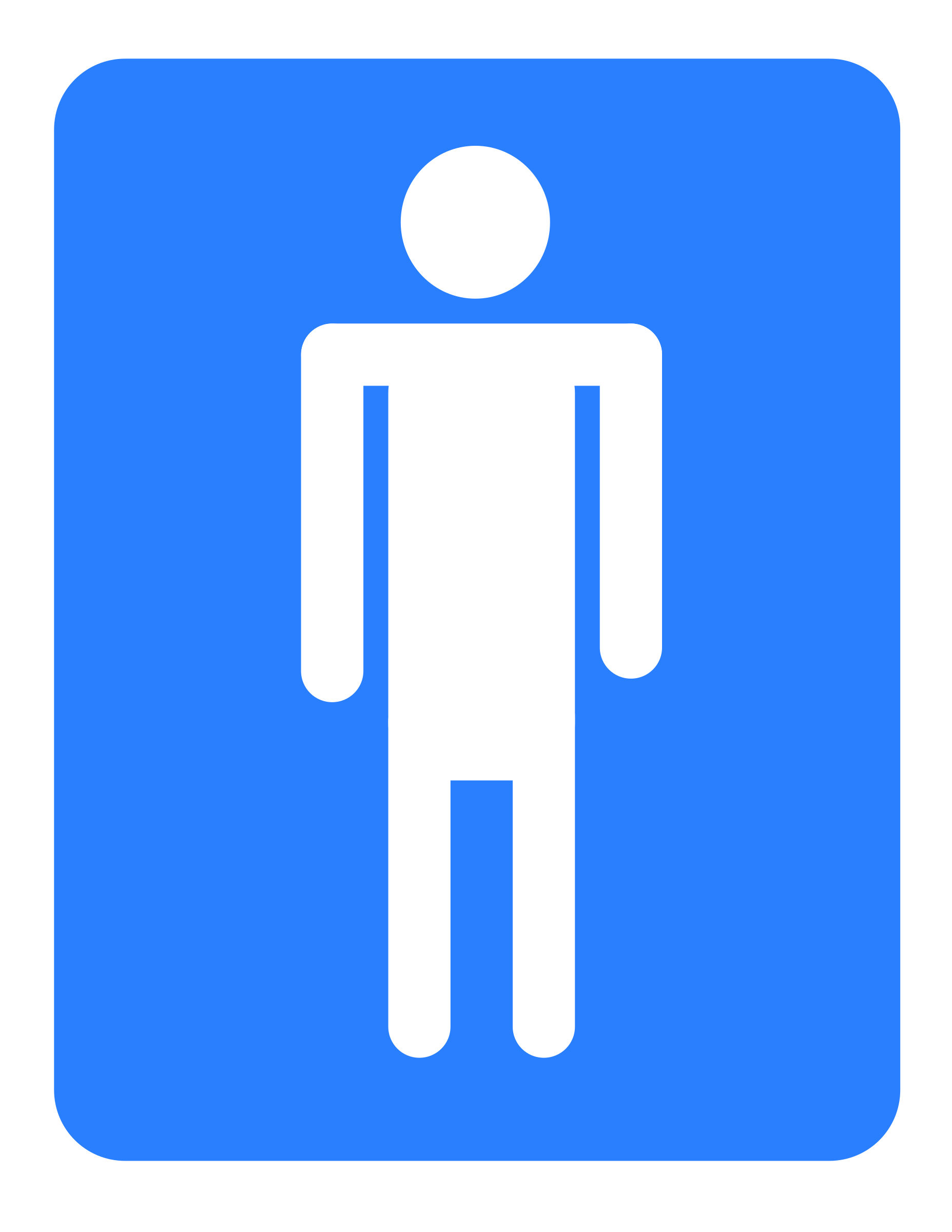 Men Restroom Icon image #42390