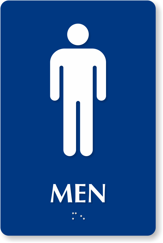 Men Restroom Sign Icon image #42392
