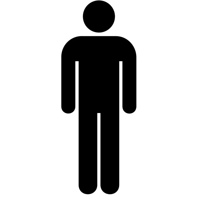 Men Restroom Symbol Icon image #42378