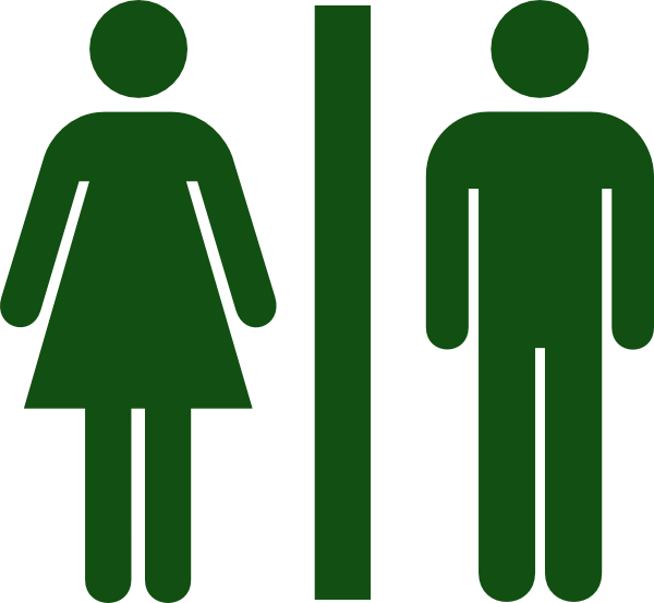 Men, Women, Toilet, Restroom Green Png image #42385