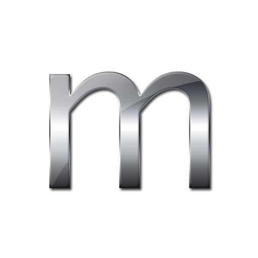 Metalic Letter M Icon Png image #10575