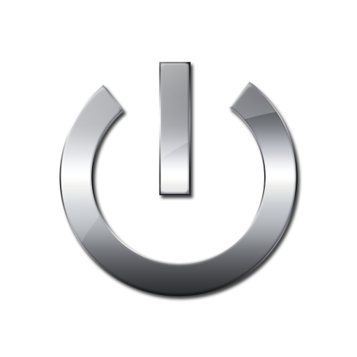 Metallic Power Button Icon image #8344