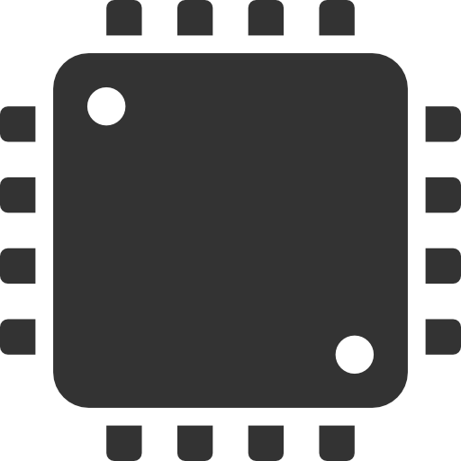 Microprocessor Icon Vector image #9579