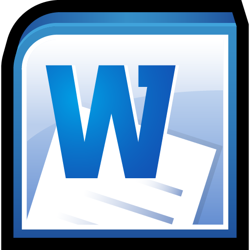 Microsoft Office Word Icon Office 2010 Icons SoftIconsm